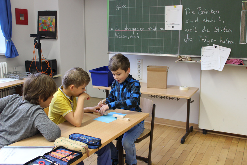 br cken bauen in der projektwoche grundschule stammestra e